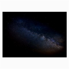 Cosmos Dark Hd Wallpaper Milky Way Large Glasses Cloth (2 Side)