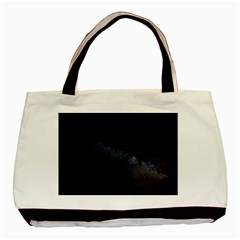 Cosmos Dark Hd Wallpaper Milky Way Basic Tote Bag (two Sides)