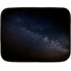 Cosmos Dark Hd Wallpaper Milky Way Fleece Blanket (Mini)