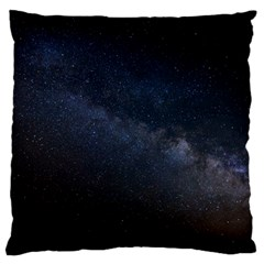 Cosmos Dark Hd Wallpaper Milky Way Large Cushion Case (Two Sides)