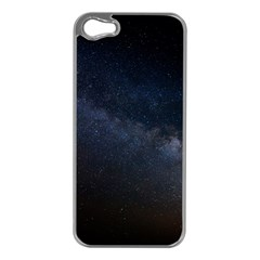 Cosmos Dark Hd Wallpaper Milky Way Apple iPhone 5 Case (Silver)