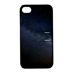 Cosmos Dark Hd Wallpaper Milky Way Apple Iphone 4/4s Hardshell Case With Stand