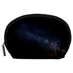 Cosmos Dark Hd Wallpaper Milky Way Accessory Pouches (Large)