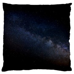 Cosmos Dark Hd Wallpaper Milky Way Large Flano Cushion Case (two Sides)
