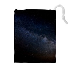 Cosmos Dark Hd Wallpaper Milky Way Drawstring Pouches (extra Large)