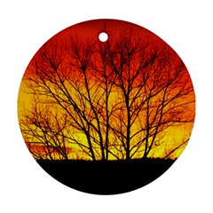 Sunset Abendstimmung Ornament (Round)