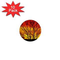 Sunset Abendstimmung 1  Mini Magnet (10 pack)