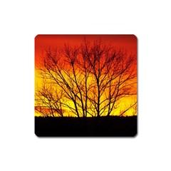 Sunset Abendstimmung Square Magnet