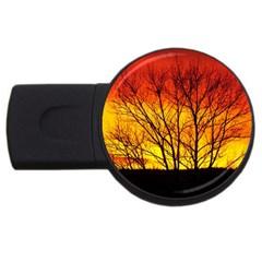 Sunset Abendstimmung USB Flash Drive Round (1 GB)