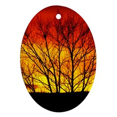 Sunset Abendstimmung Oval Ornament (two Sides)
