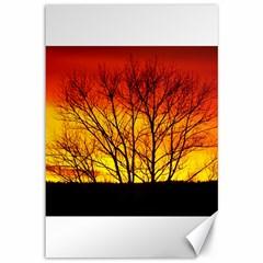 Sunset Abendstimmung Canvas 12  x 18