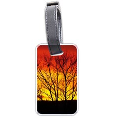 Sunset Abendstimmung Luggage Tags (one Side)