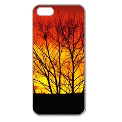 Sunset Abendstimmung Apple Seamless iPhone 5 Case (Clear)