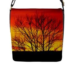 Sunset Abendstimmung Flap Messenger Bag (l)