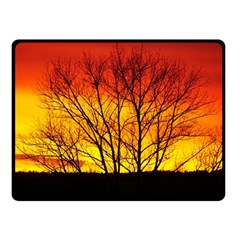 Sunset Abendstimmung Double Sided Fleece Blanket (Small)