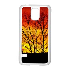 Sunset Abendstimmung Samsung Galaxy S5 Case (White)