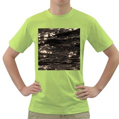 Lake Water Wave Mirroring Texture Green T Shirt