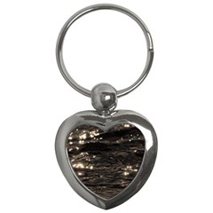 Lake Water Wave Mirroring Texture Key Chains (heart)