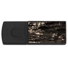 Lake Water Wave Mirroring Texture Usb Flash Drive Rectangular (4 Gb)