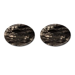 Lake Water Wave Mirroring Texture Cufflinks (Oval)