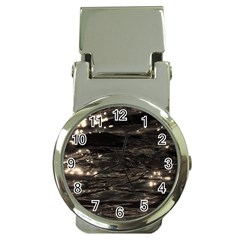 Lake Water Wave Mirroring Texture Money Clip Watches