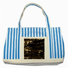 Lake Water Wave Mirroring Texture Striped Blue Tote Bag