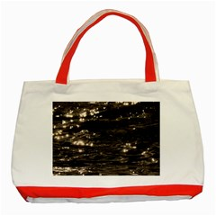 Lake Water Wave Mirroring Texture Classic Tote Bag (Red)