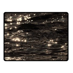 Lake Water Wave Mirroring Texture Double Sided Fleece Blanket (Small)