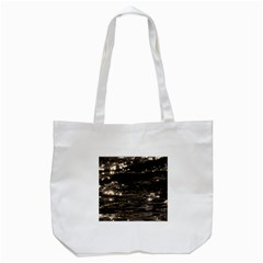 Lake Water Wave Mirroring Texture Tote Bag (White)