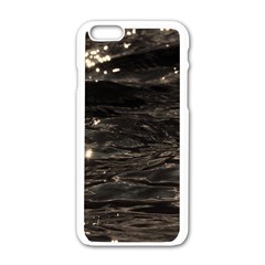 Lake Water Wave Mirroring Texture Apple iPhone 6/6S White Enamel Case