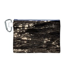 Lake Water Wave Mirroring Texture Canvas Cosmetic Bag (m)