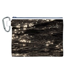Lake Water Wave Mirroring Texture Canvas Cosmetic Bag (L)
