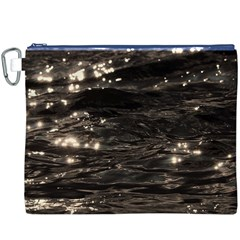 Lake Water Wave Mirroring Texture Canvas Cosmetic Bag (XXXL)