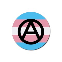 Anarchist Pride Rubber Round Coaster (4 Pack)