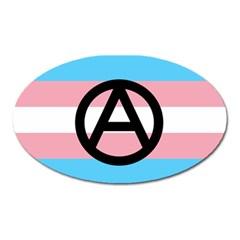 Anarchist Pride Oval Magnet