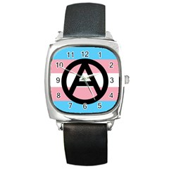 Anarchist Pride Square Metal Watch