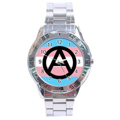 Anarchist Pride Stainless Steel Analogue Watch
