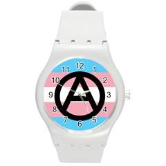 Anarchist Pride Round Plastic Sport Watch (M)