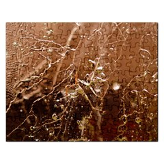 Ice Iced Structure Frozen Frost Rectangular Jigsaw Puzzl