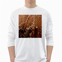 Ice Iced Structure Frozen Frost White Long Sleeve T-Shirts
