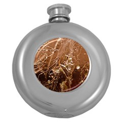 Ice Iced Structure Frozen Frost Round Hip Flask (5 oz)