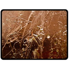 Ice Iced Structure Frozen Frost Fleece Blanket (Large)
