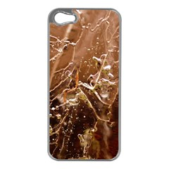 Ice Iced Structure Frozen Frost Apple iPhone 5 Case (Silver)