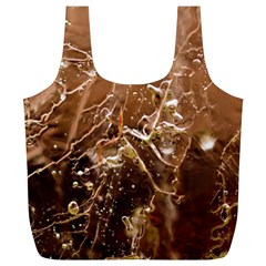 Ice Iced Structure Frozen Frost Full Print Recycle Bags (L)