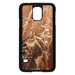 Ice Iced Structure Frozen Frost Samsung Galaxy S5 Case (Black)
