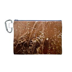 Ice Iced Structure Frozen Frost Canvas Cosmetic Bag (m)