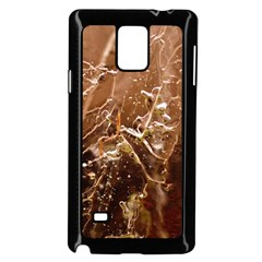 Ice Iced Structure Frozen Frost Samsung Galaxy Note 4 Case (Black)