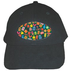 Presents Gifts Background Colorful Black Cap