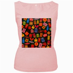 Presents Gifts Background Colorful Women s Pink Tank Top