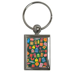 Presents Gifts Background Colorful Key Chains (rectangle)